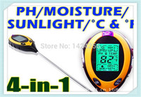 soil ph moisture meter - New In Soil Tester LCD Temperature Moisture Sunlight PH Garden Soil Tester Meter