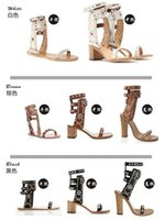 Wholesale Fashion Original Quality New Isabel Carol Elvis Genuine Leather Studded Sandals Fashion High Heel Women Shoes