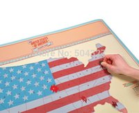 Wholesale Piece Scratch Map USA Edition United States Of American Country Map Packed in Card Tube