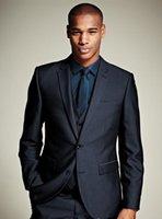 mens custom made suits - arrive custom made men suit navy blue men s suit wedding suits groom suit for mens