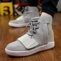 men high top shoes - Men Yeezy Boost Outdoors Sneaker Men Ankle Boots Colors Athletics Boots High Top Casual Sports Shoes New Arrival