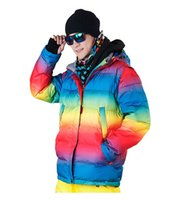 beauty free snow - Women snowboard clothes winter warm high quality coat beauty skiing jacket female snow windproof breathable