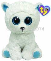 big polar bear stuffed animal - New Original TY Beanie Boos Big Eye Tundra the Polar Bear Plush Toys Stuffed Animals Toys Children Gifts Kids Toys CM