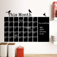 art wall calendars - Wall stickers home decoration The new generation of environmentally friendly pvc nursery den office calendar posted monochrome backdrop wall