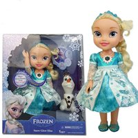 Wholesale Frozen Snow Glow Elsa Singing Doll With Glow Light up Singing quot Let it go quot Frozen Dolls for Kids Christmas Gift
