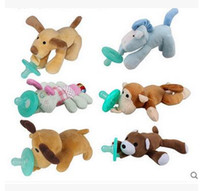 Wholesale Pacifiers with Plush Animal Baby Silicone Styles Cartoon Cute Infant Non ToxicTool Safe Baby Nipples Teat High Quality