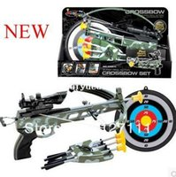 Wholesale outdoor archery toy shooting darts crossbow set toy Children s toys educational toys