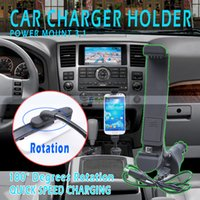 Wholesale Universal Car Mounts Car Holder Micro USB Car Charger for Smartphone Samsung HTC LG
