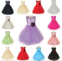 sundresses - Retail New Girl Summer Dress Corsage Sequins Fashion Sundress Girl Party Dress Y