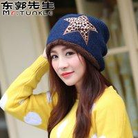 Wholesale Winter Cap Winter Knitted Hats for Women Snapback Ladies Fashion Hats Snap Back New Dhl Women Warm Hat Gift Leopard stars B466