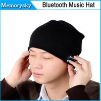 Wholesale V887 Bluetooth Music Hat Cap Soft Warm Beanie with Stereo Headphone Headset Speaker Wireless Mic Hands free for Men Women Gift by DHL