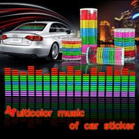 backlight sheet - 90 CM EL Sheet Car Stickers Equalizer Music Rhythm Backlight Panel Glow different backlight styles to choose freeshipping order lt no tr