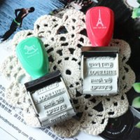 Wholesale DIY Cute Kawaii Rubber Roller Stamp Thanks Good Luck Smiles Love words Stamps for Decoration Korean Statioenry