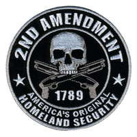 Wholesale Embroidery Patches for Jacket Motorcycle Club Biker outlaw MC custom ND AMENDMENT AMERICA S ORIGINAL HOMELAND SECURITY cm