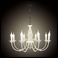 art deco items - 76 cm E14 candle lights Modern Art Deco Wrought Iron light Decoration lamps white Chandelier pendant lustre chandeliers item modern