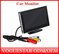 Wholesale High Resolution inch Color TFT LCD Car Rearview Monitor for DVD VCD Camera VCR video Super Slim PAL NTSC ATP007