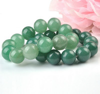 green jade stone - mm mm mm mm Natural High quality charms Green Aventurine Round Jade Stone Beads fit for bracelet