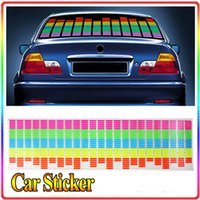 Wholesale Colourful Flash Car Sticker Music Rhythm LED EL Sheet Light Lamp Sound Music Activated Equalizer car Stickers