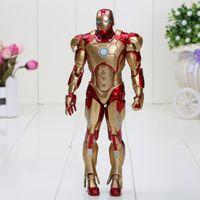 action figures superheroes - 20cm Marvel Iron Man Superhero Iron Man Tonny Mark Toy Action Figures gor kids