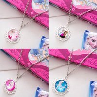 Wholesale 2015 New Frozen Stainless Steel Pendant Chain Necklaces Anna Elsa Olaf Party Favor Fashion Jewelry
