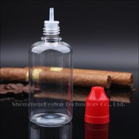 acid cigars - New type e liquid ml PET plastic dropper bottle with child proof safety cap for e cigars liquid