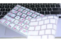 Wholesale 1000pcs US Floral Flower Silicone Keyboard Cover Skin Protective film for mac Keyboard Cover Skin