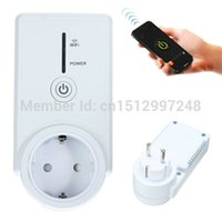 Wholesale 2015 New Smart Wifi Timing Socket Outlet App Remote Control Switch CellPhone EU Plug Wireless Switch Security