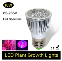 Wholesale E27 LED Bulb Grow Lamp W Red Blue LED Plant Light Lamp Hydroponic Grow Light Bulbs Flower Garden Greenhouse