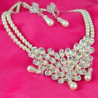 austrian crystal jewelry offers - 2015 Promotion Special Offer Wedding Jewelry Sets for Pingente Wedding Jewelry Set silver Plated Set Austrian Crystal Earring necklace G185
