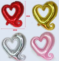 aluminum options - 18 Inch Aluminum Foil Heart Balloon Pink Silver Gold Red Option Best For Wedding Birthday Christmas Party Decoration