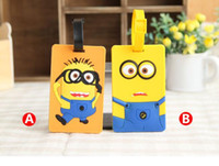 Wholesale NEW Hot fashion Cartoon movie LUGGAGE TAG lovely D Cartoon Minions style Travel bag tag bag tag Toys best gifts cc102