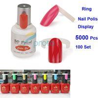 Wholesale 100Set Portable Polish UV Gel Color Pops Ring Nail Art Colour Chart Displays Display DIY Tools Nail Tips F0149XX