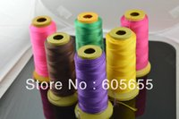 Wholesale Large Selection Colors mm Thickness Silk Cotton Thread Cords Wire Rope fit Knoted Necklace Sold by role
