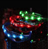 led glow products - Creative glow products novelty items LED flash Spider man glasses Light shutter halloween toys gifts
