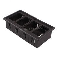 Wholesale 4x Car Rocker Switch Clip Panel Patrol Holder Housing ARB Carling Type Plastic Black New order lt no track