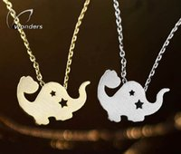 Bohemian animal party theme - Simple and Modern Animal Theme Jewelry Stainless Steel Gold Silver Cute Unique Dinosaur Pendants Necklace For Women