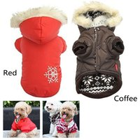 Wholesale Warm Winter Small Dog Pet Clothes Apparel Outercoat Snowflake Hoodie Coat N0001 W0