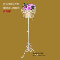 Wholesale Wrought iron wedding road cited flower roman column flower props home decoration