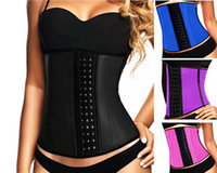 Wholesale CUSTOMIZABLE With Your Own Logo XS XL Latex Rubber Waist Training Colors Women Latex Rubber Waist Training dress Corset Shapewear