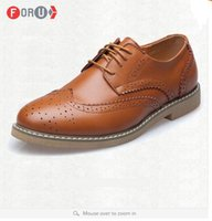 Cheap ForU New 2016 Men Leather Shoes British style Vintage oxfords Men Brogue casual oxford shoes for men