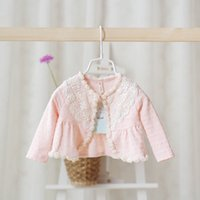 Poncho retail shawls - Retail baby girl kids infant toddler lace shawl cape poncho Beaded rose lace hollow princess coat cardigan babies outfits A6605