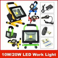 Wholesale 10W W Cordless Rechargeable LED Flood Spot Work Light Lamps Weather Resistant