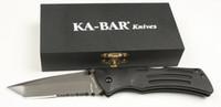 ka-bar - New Ka Bar Aluminium handle Serrated Blade Folding Pocket Knife KB01