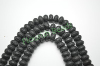 Wholesale New Launch MM MM Black Lava Rondelle Beads Fit Fashion Woman Bracerlet Necklace Jewelry Making
