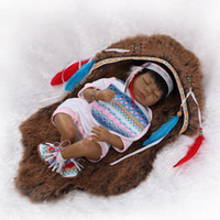 american girl doll collection - 22 quot cm reborn dolls babies native American indian doll collection girls toys children birthday gift