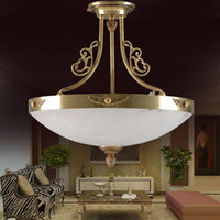 alabaster lamps - modern E27 copper marble ceiling lamp for bedroom luxury spanish alabaster stone copper ceiling lamp