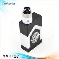 Castigador Delrin Mod Double 18650 Batterie 1: 1 clone Vaporisateur mécanique Box Mod avec 510 fil ajustement 22mm atomiseurs RDA RBA