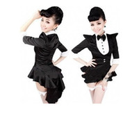 Wholesale 2015 uniforms jazz dance costumes for women sexy black tuxedo halloween costumes broadway magician cosaply stage clothes girls dresses