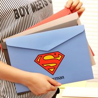 Wholesale Creative American Heroes Paper File Folder Document Filing Bag Stationery Bag