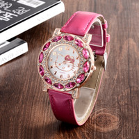 cheap gifts for women - Holiday Sale New Arrival Cheap Lovely Girls Hello Kitty Women Watch Children Fashion Kids Crystal Wrist Watch For Gift